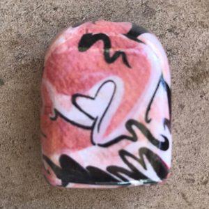 HyperPumpArt pink heart Omnipod cover